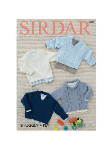 Sweaters in Sirdar Snuggly 4ply- 4810